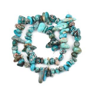 Blue Impression Jasper Grade A Smooth Nugget Beads 2x8mm-5x12mm Strand Of 45+ Pieces Y17570