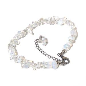 Clear Opalite 8 Inch Chip Anklet Bracelet  Y17575