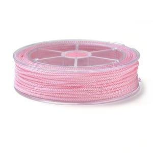 Pale Pink Nylon Braided String Cord 18M Spool 1.5mm Thick Y17670