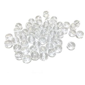 Clear AB Glitter Acrylic Plain Round Beads 10mm Pack Of 50+ Y17700