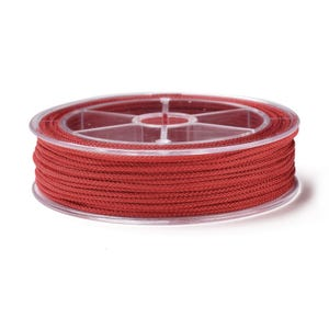 Red Nylon Braided String Cord 18M Spool 1.5mm Thick Y17710