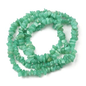 Green Hemimorphite Grade A Chip Beads Approx 6-12mm Long Strand Of 120+ Pieces Y17775