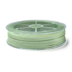 Pale Green Nylon Braided String Cord 18M Spool 1.5mm Thick Y17835