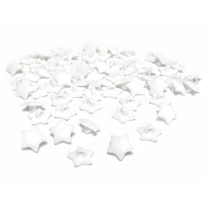 White Acrylic 16mm Shank Faceted Star Buttons Pack Of 100+ Y18050