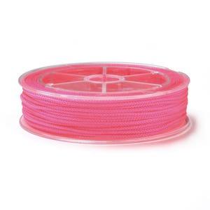 Neon Pink Nylon Braided String Cord 18M Spool 1.5mm Thick Y18080