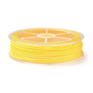 Yellow Nylon Braided String Cord 18M Spool 1.5mm Thick Y18085
