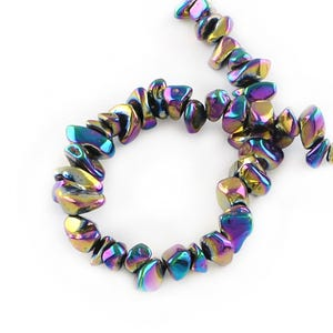 Rainbow Hematite (Non Magnetic) Grade A Smooth Nugget Beads 5x3mm-9x6.5mm Strand Of 95+ Pieces Y18125