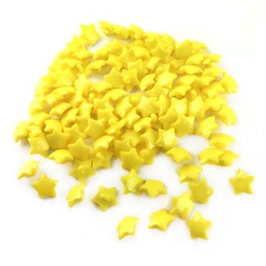 Yellow Acrylic 16mm Shank Faceted Star Buttons Pack Of 100+ Y18170