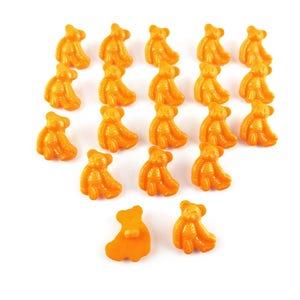 Orange Acrylic 25mm Shank Bear Buttons Pack Of 20 YF2020
