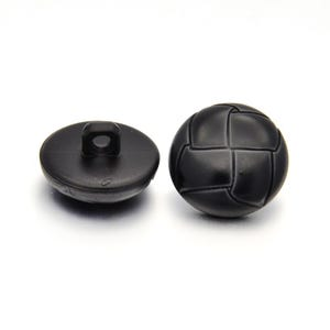 Black Acrylic 18mm Shank Dome Buttons Pack Of 5 YF2030