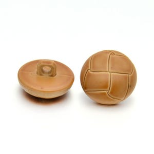Brown Acrylic 18mm Shank Dome Buttons Pack Of 5 YF2040
