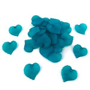 Teal Blue Lucite Leaf Beads 15mm x 16mm Pack Of 30 YF2165
