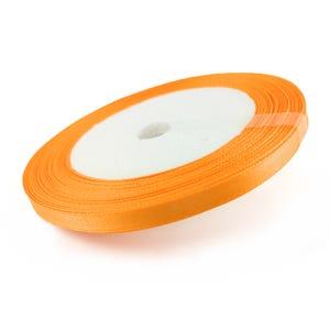 Bright Orange Satin Ribbon 20M Spool 7mm Wide YF2210