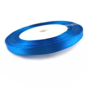 Dark Blue Satin Ribbon 20M Spool 7mm Wide YF2225