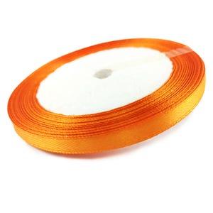 Dull Orange Satin Ribbon 20M Spool 7mm Wide YF2230