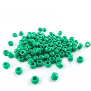 Green Acrylic Pony Large Hole Beads 8mm x 6mm Pack Of 100+ YF2250