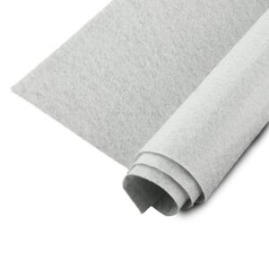 Pale Grey Polyester Non Woven Felt Square 30cm x 30cm Pack Of 2 Sheets YH1200