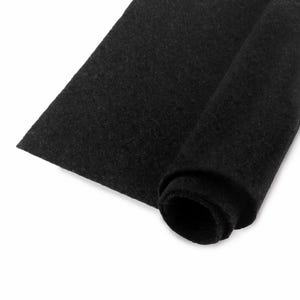 Black Polyester Non Woven Felt Square 30cm x 30cm Pack Of 2 Sheets YH1205