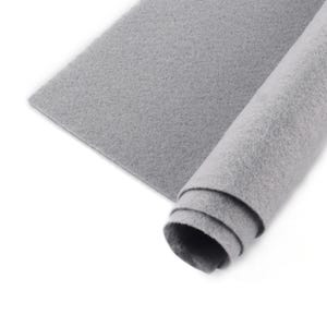 Grey Polyester Non Woven Felt Square 30cm x 30cm Pack Of 2 Sheets YH1220