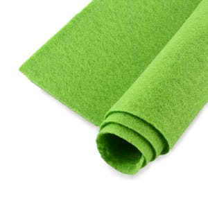 Lime Green Polyester Non Woven Felt Square 30cm x 30cm Pack Of 2 Sheets YH1235