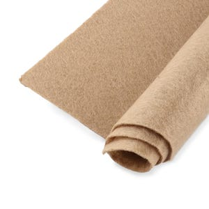 Beige Polyester Non Woven Felt Square 30cm x 30cm Pack Of 2 Sheets YH1240