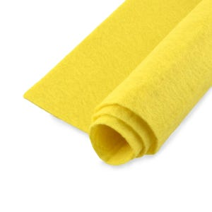 Yellow Polyester Non Woven Felt Square 30cm x 30cm Pack Of 2 Sheets YH1245