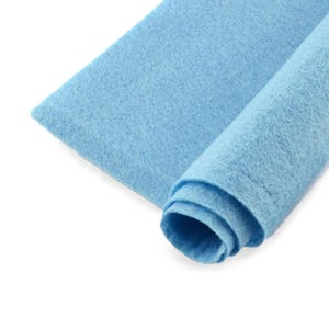 Pale Blue Polyester Non Woven Felt Square 30cm x 30cm Pack Of 2 Sheets YH1250