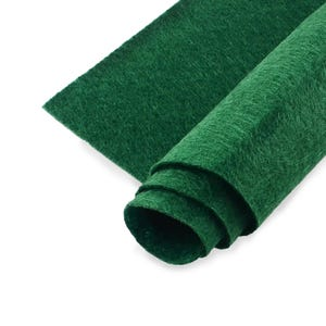 Dark Green Polyester Non Woven Felt Square 30cm x 30cm Pack Of 2 Sheets YH1255