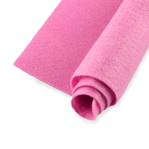 Pink Polyester Non Woven Felt Square 30cm x 30cm Pack Of 2 Sheets YH1260