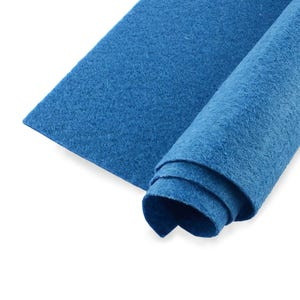 Blue Polyester Non Woven Felt Square 30cm x 30cm Pack Of 2 Sheets YH1265