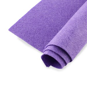 Purple Polyester Non Woven Felt Square 30cm x 30cm Pack Of 2 Sheets YH1270