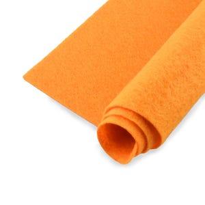Orange Polyester Non Woven Felt Square 30cm x 30cm Pack Of 2 Sheets YH1275