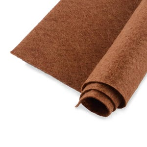Brown Polyester Non Woven Felt Square 30cm x 30cm Pack Of 2 Sheets YH1280