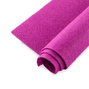 Fuchsia Polyester Non Woven Felt Square 30cm x 30cm Pack Of 2 Sheets YH1285