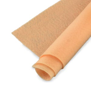 Peach Polyester Non Woven Felt Square 30cm x 30cm Pack Of 2 Sheets YH1290