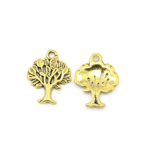 Antique Gold Tibetan Zinc Tree Of Life Charms 22mm Pack Of 20 ZX00585