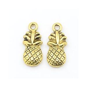 Antique Gold Tibetan Zinc Pineapple Charms 20mm Pack Of 15 ZX00595