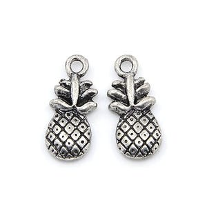 Antique Silver Tibetan Zinc Pineapple Charms 20mm Pack Of 15 ZX00890