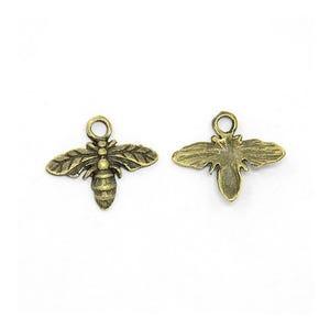 Steampunk Antique Bronze Tibetan Zinc Bee Charms 15mm Pack Of 20 ZX01240