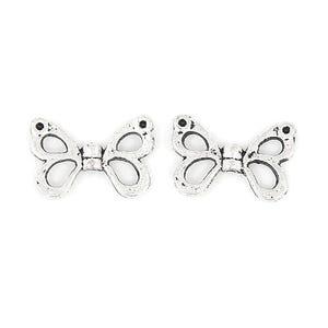 Antique Silver Tibetan Zinc Butterfly Charms 15mm Pack Of 15 ZX01535