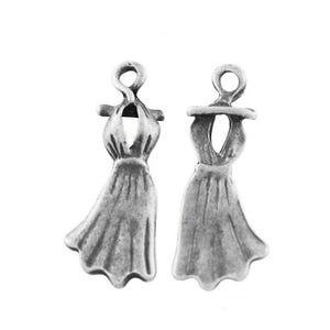 Antique Silver Tibetan Zinc Dress Pendants 25mm Pack Of 10 ZX02715