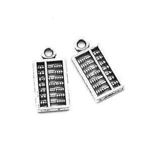 Antique Silver Tibetan Zinc Abacus Charms 18mm Pack Of 10 ZX02835