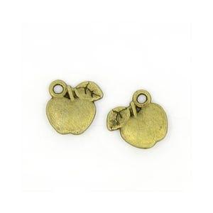 Steampunk Antique Bronze Tibetan Zinc Apple Charms 11mm Pack Of 30 ZX03045