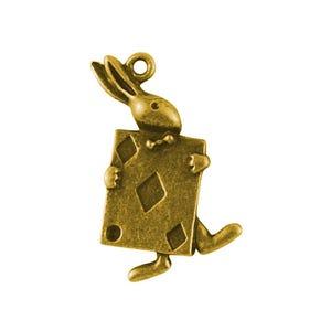 Antique Gold Tibetan Zinc Rabbit Pendants 36mm Pack Of 5 ZX03170