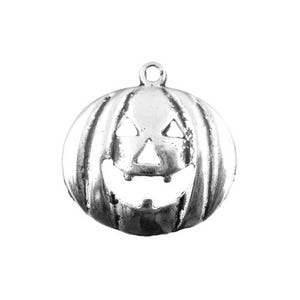 Antique Silver Tibetan Zinc Pumpkin Charms 24mm Wholesale 3 Packs Of 5 BB-ZX03425