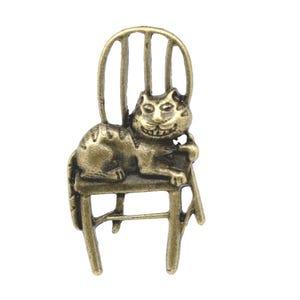 Steampunk Antique Bronze Tibetan Zinc Cat Pendants 41mm Pack Of 10 ZX03815