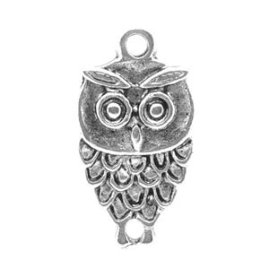 Antique Silver Tibetan Zinc Owl Charms 18mm Pack Of 15 ZX03935