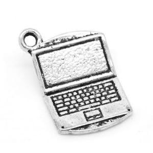 Antique Silver Tibetan Zinc Computer Charms 21mm Pack Of 5 ZX04085
