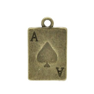 Steampunk Bronze Tibetan Zinc Playing Cards Charms 21mm Pack Of 10 ZX04160