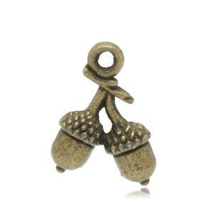Steampunk Antique Bronze Tibetan Zinc Acorn Charms 15mm Pack Of 10 ZX04180